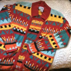 Vintage Colorful Cardigan